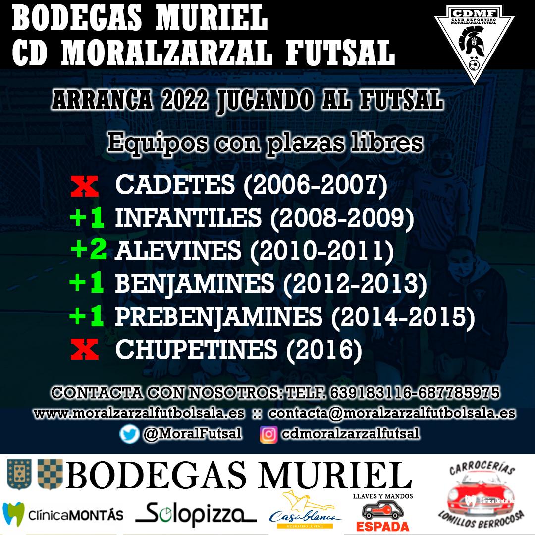 Plazas libres CD Moralzarzal Futsal